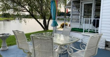 Water view mobile home in Vero Beach FL for sale