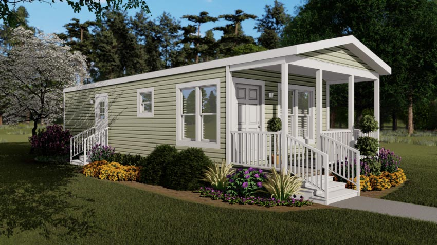 New 1/1 manufactured home in Weirsdale Florida